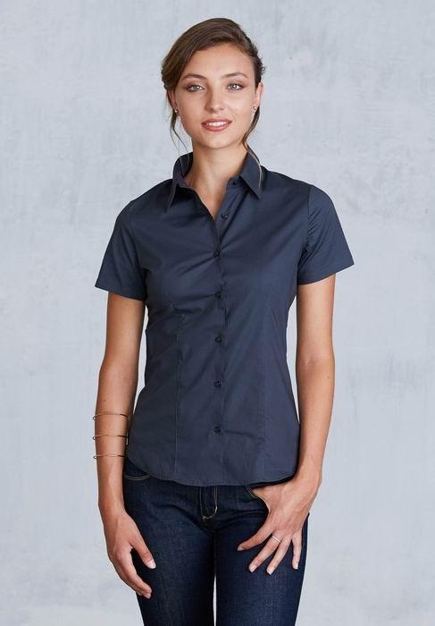 e0306dfc3b6 Dámská strečová košile krátký rukáv - dámské košile - dámské oblečení